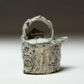 Ted Saupe Ted Saupe, Teapot One, porcelain, 5.5 x 5 x 3.5""