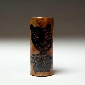 "Sunkoo Yuh Sunkoo Yuh, Cylinder w/Monkey, 6 x 2.5"""