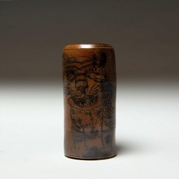 "Sunkoo Yuh Sunkoo Yuh, Cylinder w/Pencil Tiger, 6 x 2.75"""