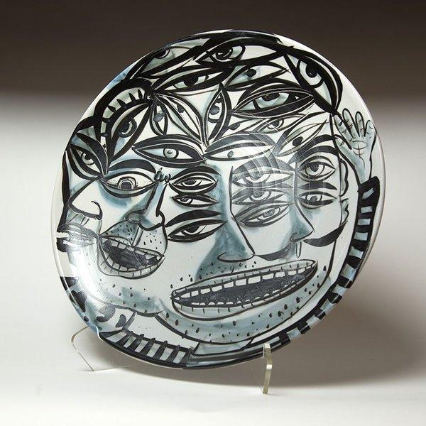 "Sunkoo Yuh Sunkoo Yuh, Big Platter, porcelain, 2.5 x 18.25"""