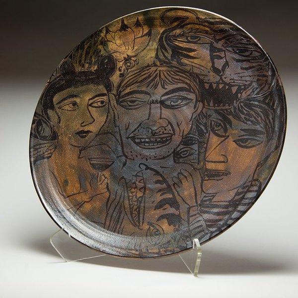 """Sunkoo Yuh Sunkoo Yuh, Big Platter, stoneware, 2.75 x 19"""""""