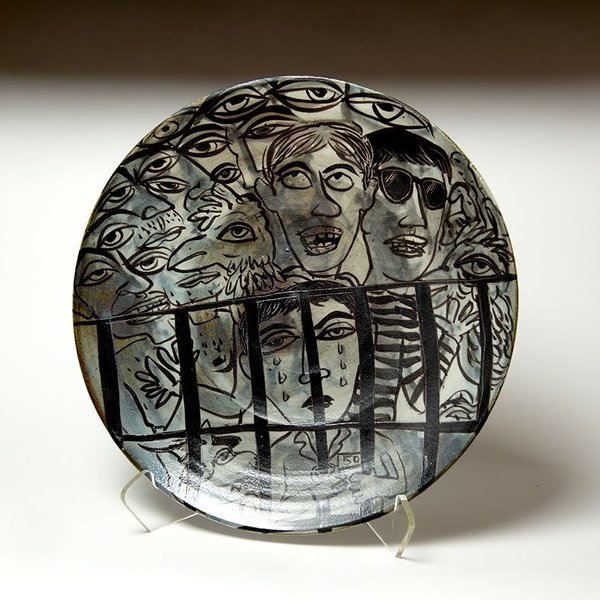 "Sunkoo Yuh Sunkoo Yuh, Big Platter, porcelain, 1.75 x 16"""