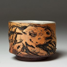 """Ron Meyers Ron Meyers, Teabowl/ Goat, earthenware, 3 1/2"""" h x 4 1/2""""w"""