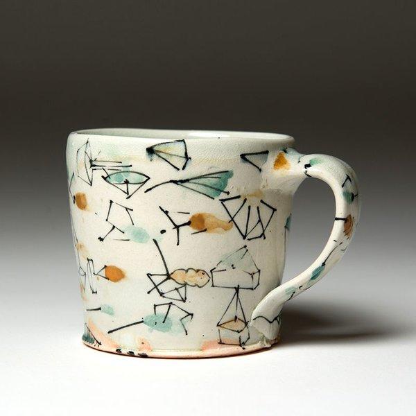 """Ted Saupe Ted Saupe,  Mug, earthenware, 3.25 x 4.5 x 3.25"""""""