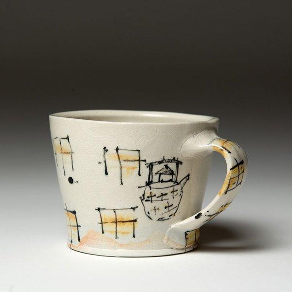 """Ted Saupe Ted Saupe,  Mug, earthenware, 2.75 x 4.25 x 3.5"""""""