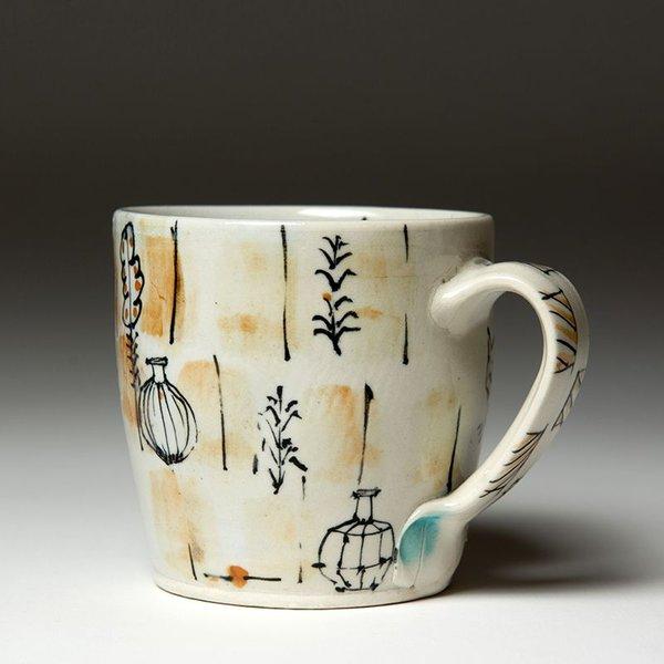 """Ted Saupe Ted Saupe,  Mug, earthenware, 3.5 x 4.5 x 3.5"""""""