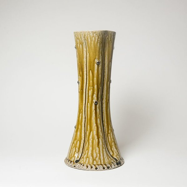 "Mark Hewitt Mark Hewitt, Tall Fluted Vase, 16.5 x 7.5"" dia"