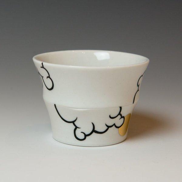 "Sam Chung Sam Chung, Cloud Cups, porcelain, glaze, 3 x 3 x 3"""