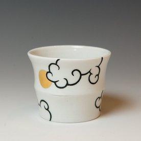 "Sam Chung Sam Chung, Cloud Cup, porcelain, glaze, 3 x 3 x 3"""