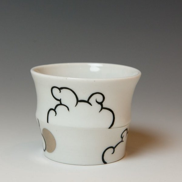 Sam Chung Sam Chung, Cloud Cups, porcelain, glaze, 3 x 3 x 3""