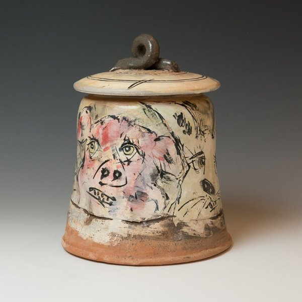 """Ron Meyers Ron Meyers, Covered Jar, 10.5 x 8.25"""""""