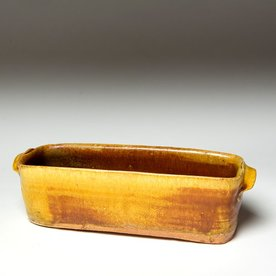 Michael Simon Michael Simon, Rectangle Dish, stoneware, glaze, slip, salt-fired, 2.75 x 9.75 x 3.5""