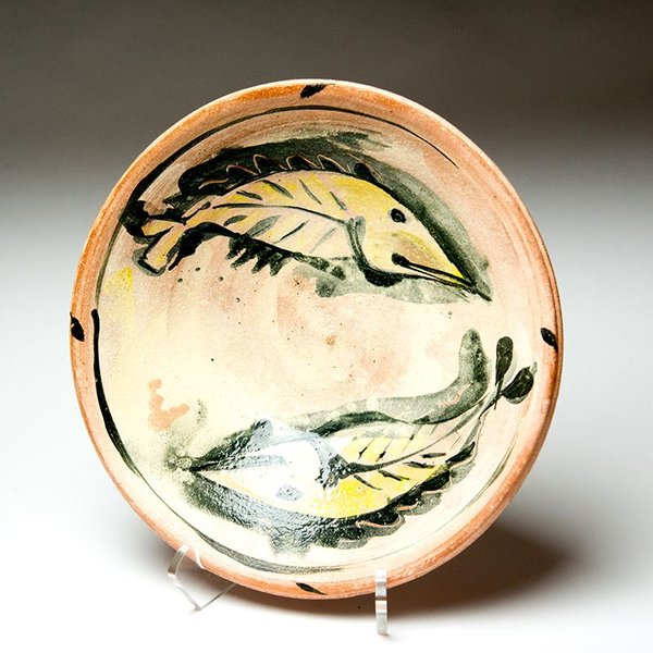 Ron Meyers Ron Meyers, Bowl with Yellow Fish, 3 x 11""