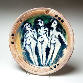 Ron Meyers Ron Meyers, Platter with Three Graces, 12.25