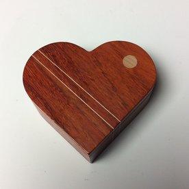 """Doug Pisik, Heart Box, paduk, maple, 1.5 x 4 x 4.5"""""""