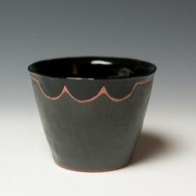"David Eichelberger David Eichelberger, Cup, earthenware, glaze, 3.25 x 4.25"" dia"