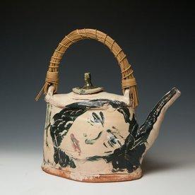 """Ron Meyers Ron Meyers, Teapot /Femme & Rat, earthenware, 13.5 x 13 x 5"""""""