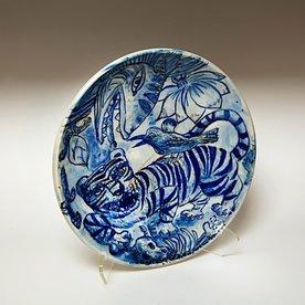 "Sunkoo Yuh Sunkoo Yuh, Large Bowl, porcelain, glaze, 3.5 x 14.75"""