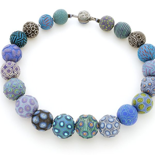 Ford & Forlano, Big Bead Necklace, polymer clay, silver