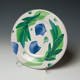 "Stanley Mace Andersen Stan Andersen, Side Plate, earthenware, majolica, 8.25"""