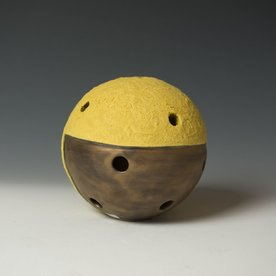 Virginia Scotchie Virginia Scotchie, Wall Sphere, ceramic, glaze, 9.5 x 6""