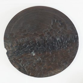 "George Peterson George Peterson, Carved Platter, walnut, waxed linen, 28"" x 3"""