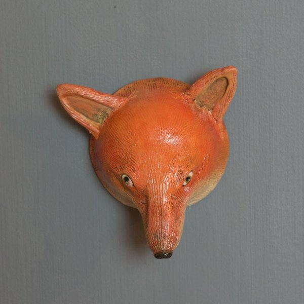 Barry Gregg Barry Gregg, Red Fox, handbuilt earthenware, glaze, 5.75 x 5.5 x 3.25""
