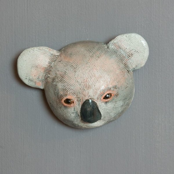 Barry Gregg Barry Gregg, Koala, handbuilt earthenware, glaze, 4.5 x 6.5 x 2.25""