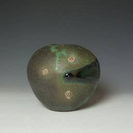 Shadow May Shadow May, Vase, stoneware, glaze, 7.25 x 7.5 x 8""