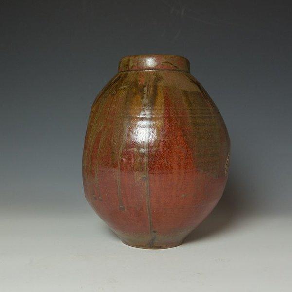 "Shadow May Shadow May, Vase, stoneware, glaze, 10.5 x 7.75 x 8.25"""