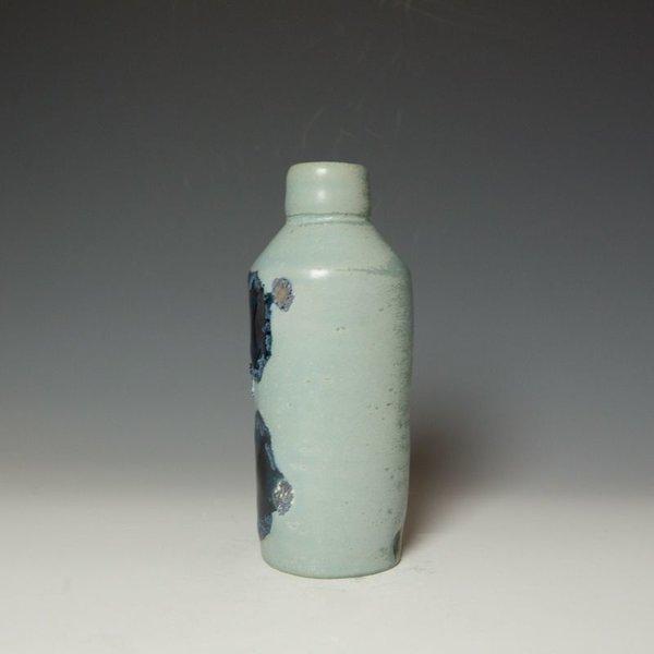 "Shadow May Shadow May, Bottle Vase, stoneware, glaze, 9 x 3 x 3.25"""