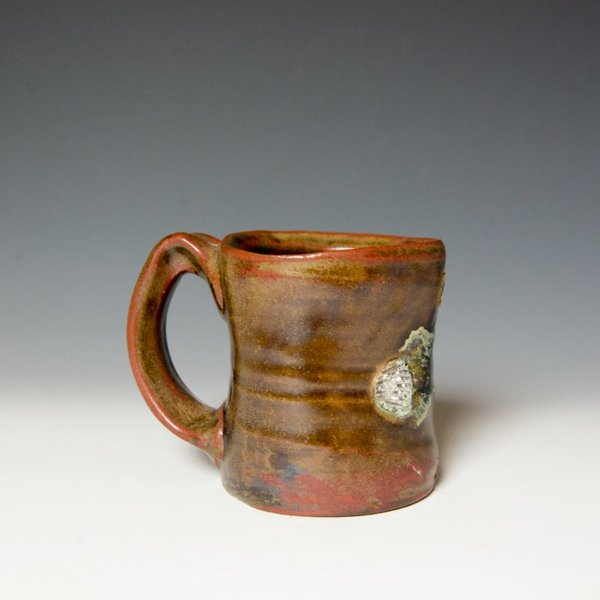 "Shadow May Shadow May, Mug, stoneware, glaze, 4 x 5.25 x 3.5"""