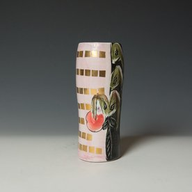Posey Bacopoulos Posey Bacopoulos, Vase / Tumbler, majolica, gold lustre