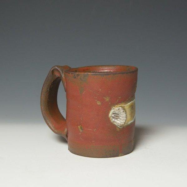 """Shadow May Shadow May, Mug, handbuilt stoneware, glaze, 4.25 x 4.75 x 3.5"""""""
