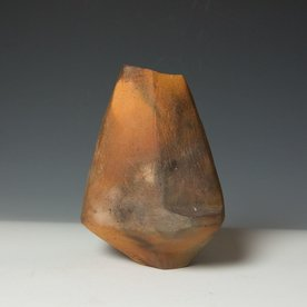 Josh Copus Josh Copus, Stone Vessel, wood-fired wild harvested clay, 11x 6.5 x 6""
