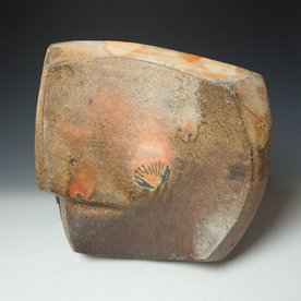 Eric Knoche Eric Knoche, Platter, stoneware with slips, wood-fired,13.5 x 14.5 x 4""