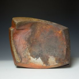 Eric Knoche Eric Knoche, Platter, stoneware with slips, wood-fired, 17.5 x 13 x 3""