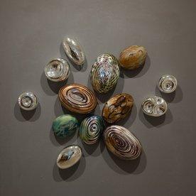 Thor & Jennifer Bueno Thor & Jennifer Bueno, Brooch, blown, kiln cooled, sandblasted, silvered (13 pieces),
