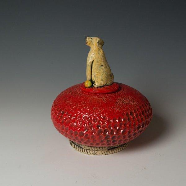 Barry Gregg Barry Gregg, Lg Lidded Jar, handbuilt earthenware, glaze,