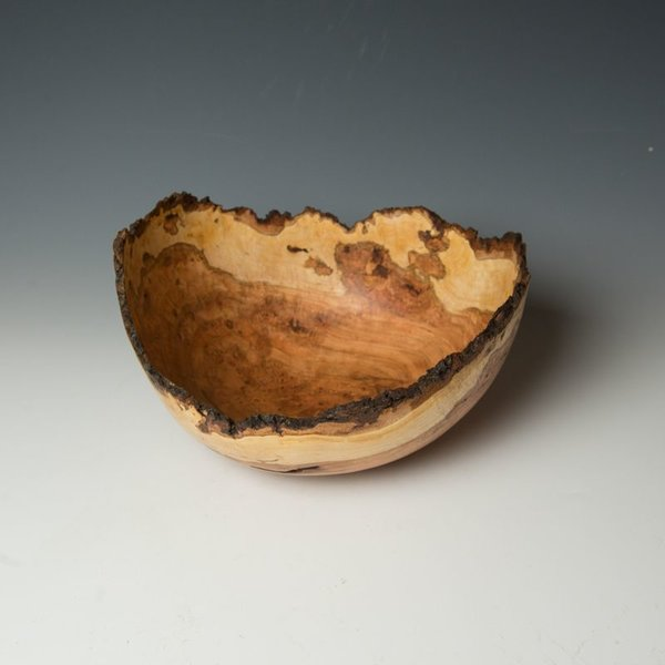 "Warren Carpenter, Cherry Burl, 6.5"" x 11.5"" x 10.5"""