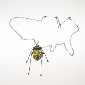 Gabrielle Gould Gabrielle Gould, Yellow Dappled Pond Beetle, ss, enamel