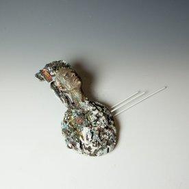 Kirsten Stingle Kirsten Stingle, Courtier, handbuilt porcelain, multiple layers underglazes, slip, stains, mixed media