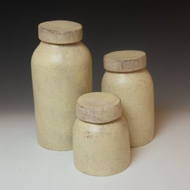 "Joe Pintz Joe Pintz, Mason Jar, handbuilt earthenware, 10 x 5"""