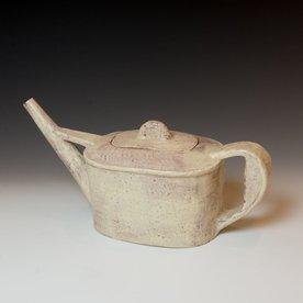 """Joe Pintz Joe Pintz, Teapot, handbuilt earthenware, 6 x 12.75 x 5.25"""""""