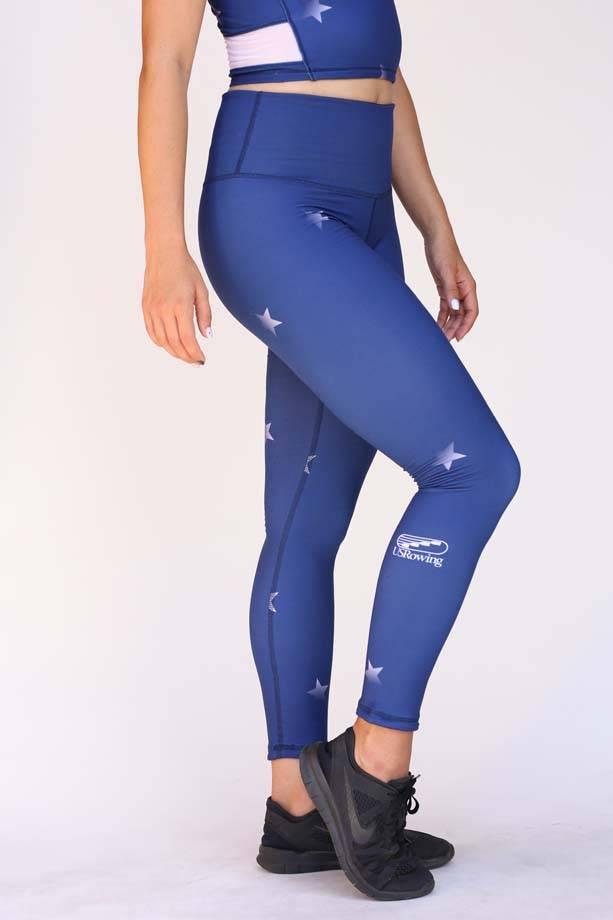 USRowing Women's Full Length Legging Stars