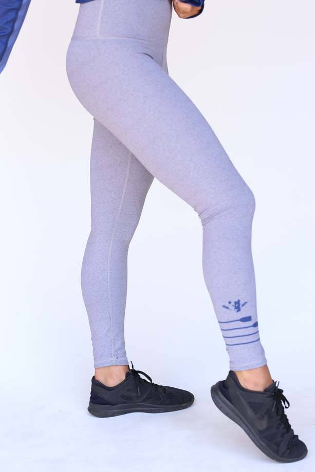 USRowing Women's Reversible Legging Dark/Light Grey