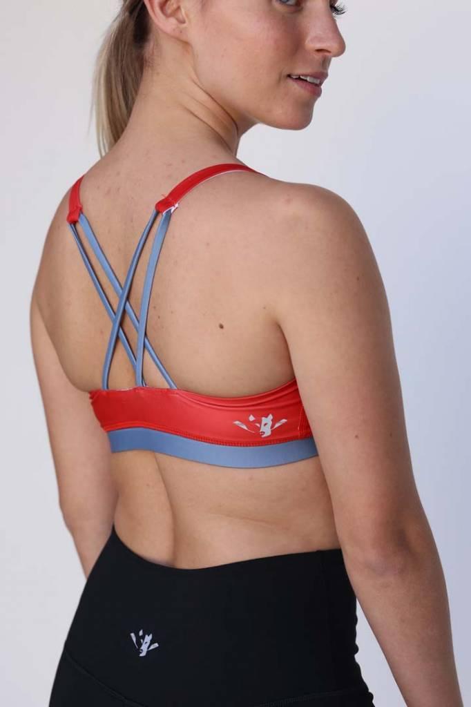 Hudson Wild Women's Red X-Back Bra