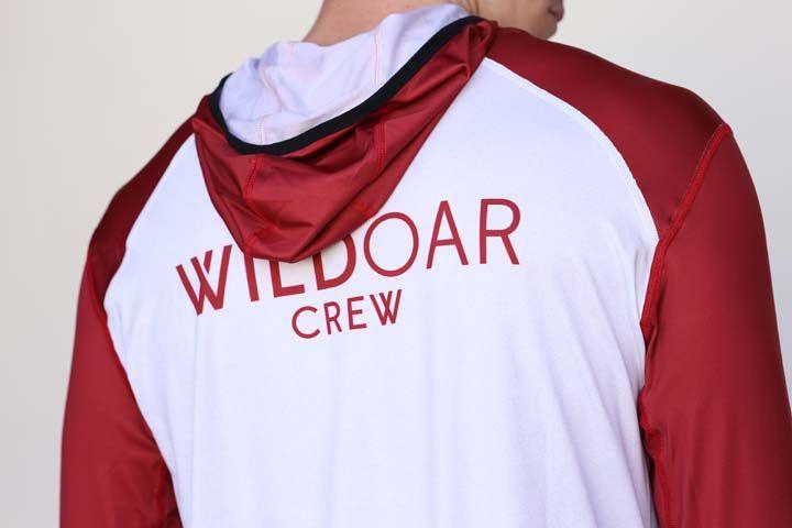 Wild Men's Grey/Red Active Hoodie
