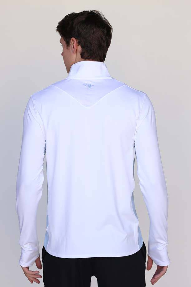 Wild Men's White Pro Panel Quarter Zip