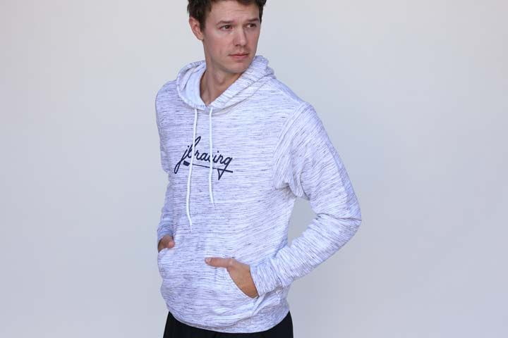Men's Heather Grey Script Hoodie